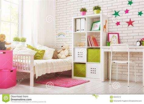 chambre a coucher d enfant chambre 224 coucher pour la fille d enfant photo stock
