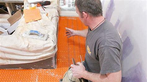 Ditra Heat Mat Spacing - ditra heat heated flooring systems home repair tutor
