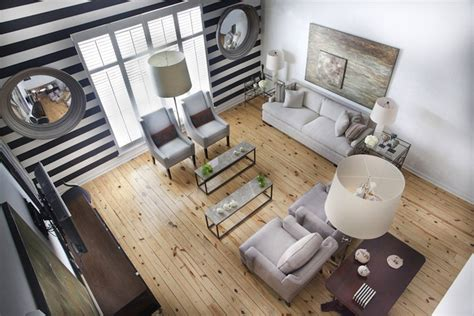 striped accent wall transitional girl s room black and white striped wall transitional living room