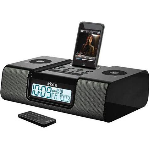 ihome ih9b6r dual alarm clock radio remote ih9b6r b h photo