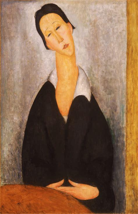 modigliani woman with a file amedeo modigliani italian portrait of a polish