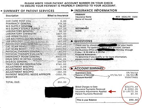 Patient Copay Letter hospital billing true cost of health care