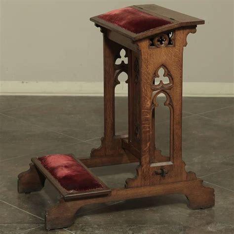 prayer bench kneeler 19th century gothic prayer kneeler prie dieu at 1stdibs