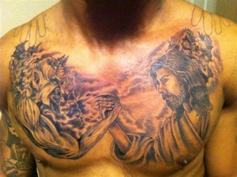 god vs devil tattoo designs jesus vs design ideas