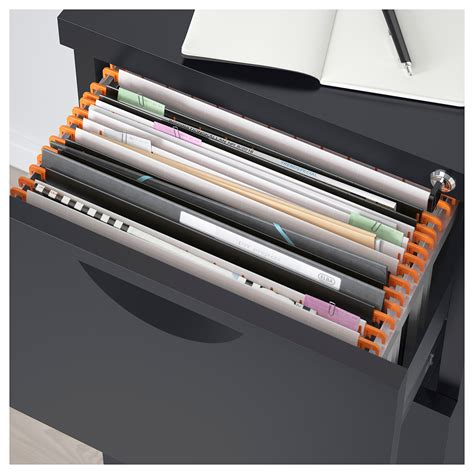 Erik File Cabinet Erik File Cabinet Black 41x104 Cm Ikea