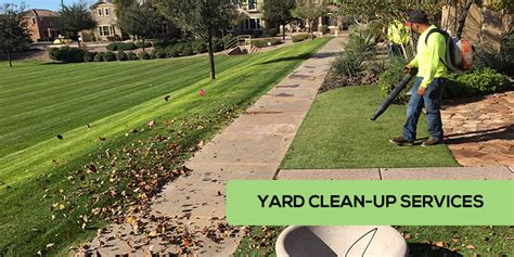s lawns yard clean up services in gilbert and
