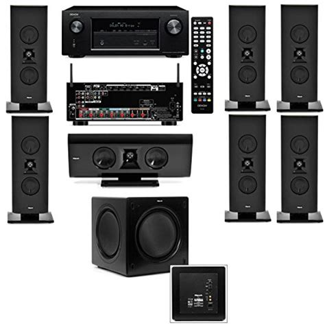 klipsch gallery g 16 7 1 home theater system sw 310 denon