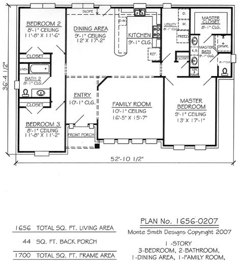 1700 Square Foot House Plans House Plan Craftsman Style 1700 Square Foot House Plans Ranch
