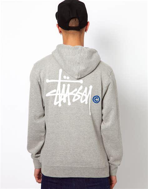 Sweater Hoodie Basic Warkop Dki stussy hoodie basic logo back print in gray for lyst
