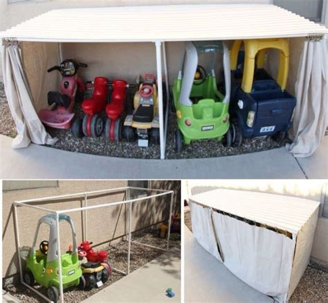 great outdoor storage idea backyard