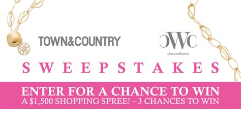 Town Country Sweepstakes - townandcountrymag com clarawilliams town country clara williams sweepstakes