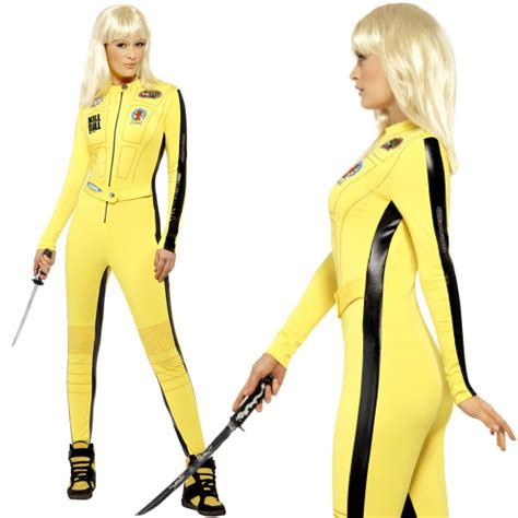 18 02 Romper Snow White Yellow womens kill bill fancy dress costume yellow jumpsuit the ebay