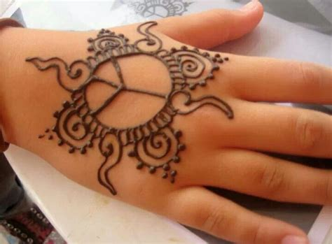 henna tattoo kids simple henna design for by hennaallure hennaallure