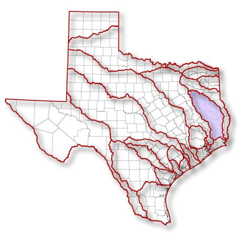 texas rivers map introduction to the texas clean rivers program neches river authority
