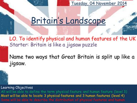 Landscape Lesson Powerpoint Britains Landscapes Physical And Human Features By