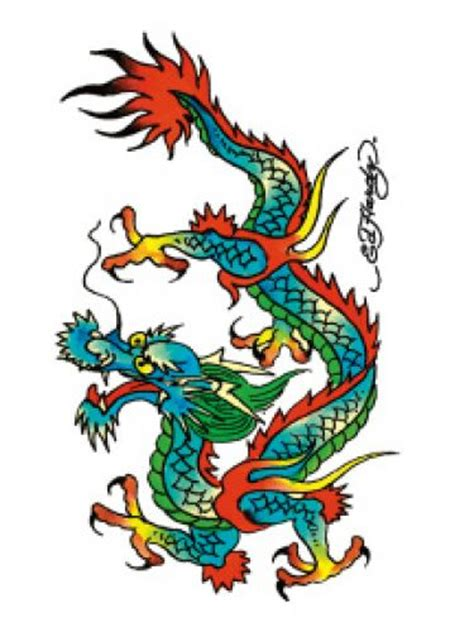 ed hardy dragon clipart best