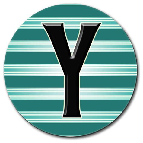 teal desk accessories letter y initial black teal stripes mouse pad