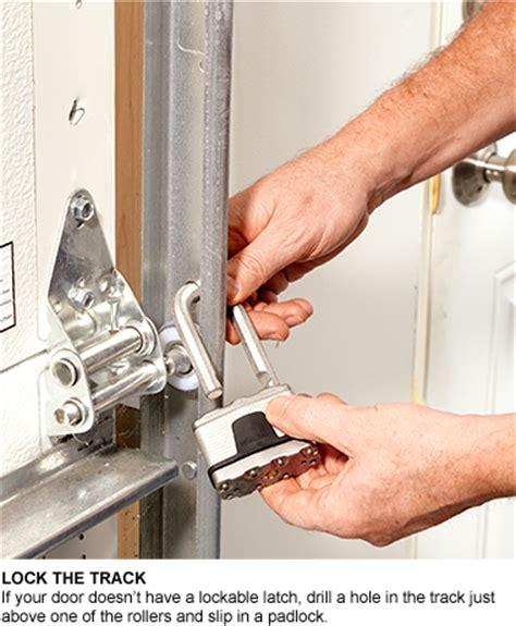 Overhead Garage Door Lock Does Your Garage Invite Burglars Garage Security Tips