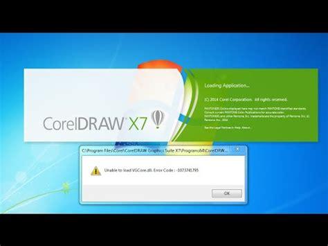 corel draw x7 vgcore dll error vgcore dll solve instal corel x7 youtube