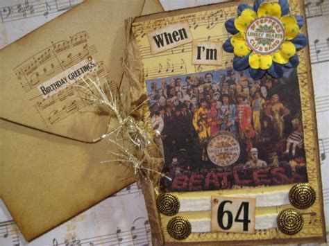 Beatles Birthday Card When I M 64 beatles birthday card when i m 64 sgt pepper s by fabfouryou