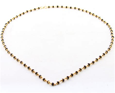 tulsi bead necklace with golden cap 2mm
