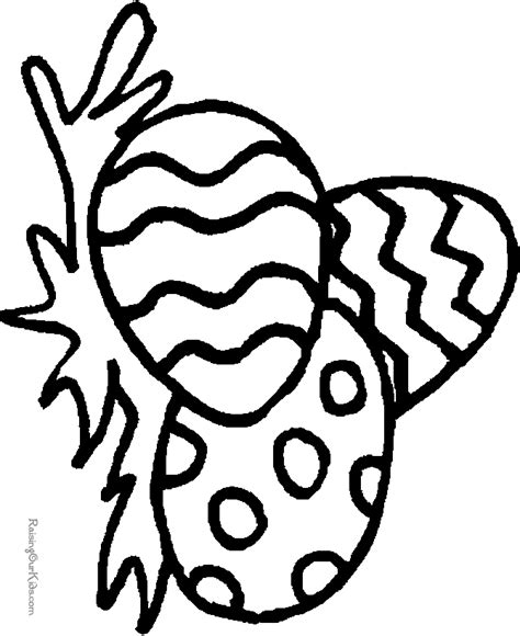 preschool kid coloring page for easter 007