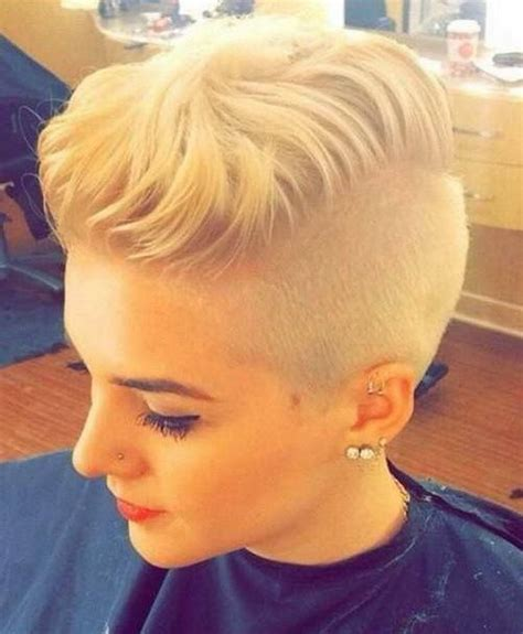 pics of shaved short cuts blonde shaved hairstyles 2017 with short tousled
