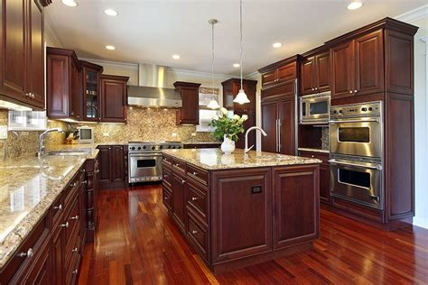 Kitchen Ideas With Cherry Wood Cabinets 23 Cherry Wood Kitchens Cabinet Designs Ideas Wood Flooring Granite And Cherries