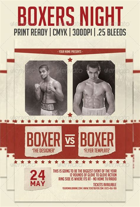 free boxing fight card template vintage boxing poster template search god of