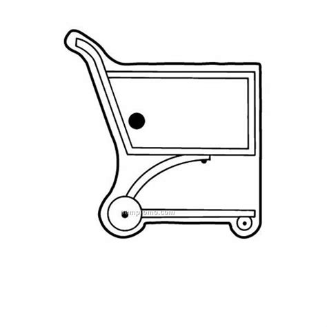 shopping cart free colouring pages