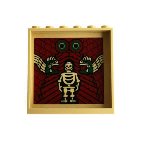 Lego Panel 1 X 6 X 5 With Skeleton And Aztec Snakes Pattern On Inside lego panel 1 x 6 x 5 with decoration 59349 brick owl lego marketplace