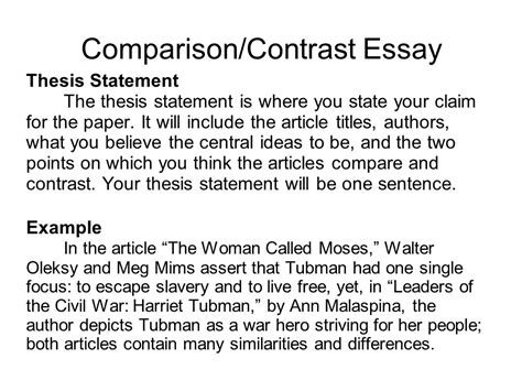 Thesis Statement For A Compare And Contrast Essay by College Essays College Application Essays Compare And Contrast Thesis Statement Generator