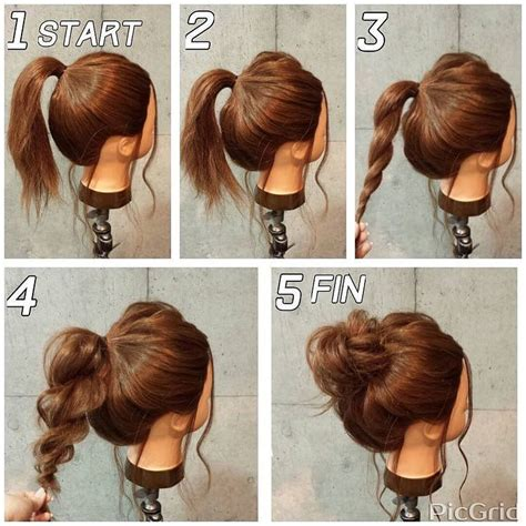 casual everyday hairstyles for long hair pin by emily ramsey on hair pinterest casual updo
