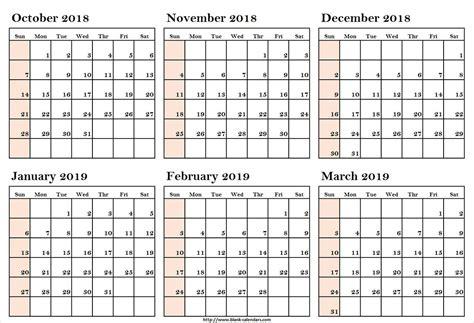 october march calendar printableoctober