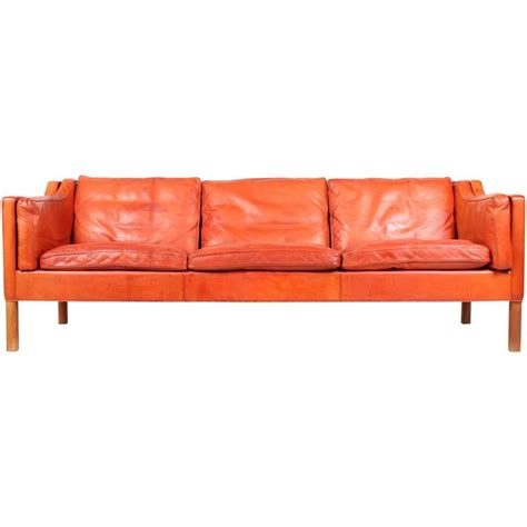 mogensen sofa b 248 rge mogensen sofa in patinated leather for sale at 1stdibs