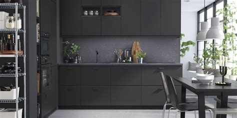 ikea kitchen cabinets   recycled materials black