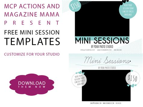 Download A Free Mini Session Template For Photoshop Free Mini Session Templates
