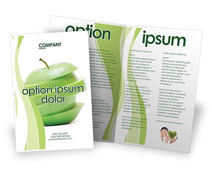 apple brochure templates sliced green apple brochure template design and layout