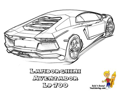 Coloring Lamborghini Rugged Exclusive Lamborghini Coloring Pages Cars Free