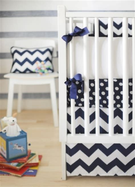Navy Boy Crib Bedding by New Arrivals Boy Crib Bedding Set Zig Zag Navy 4 Things Navy Chevron