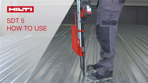 how to use a standing how to use your hilti decking sdt 5 stand up tool youtube