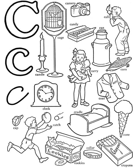 color starting with c letter c coloring page coloring home