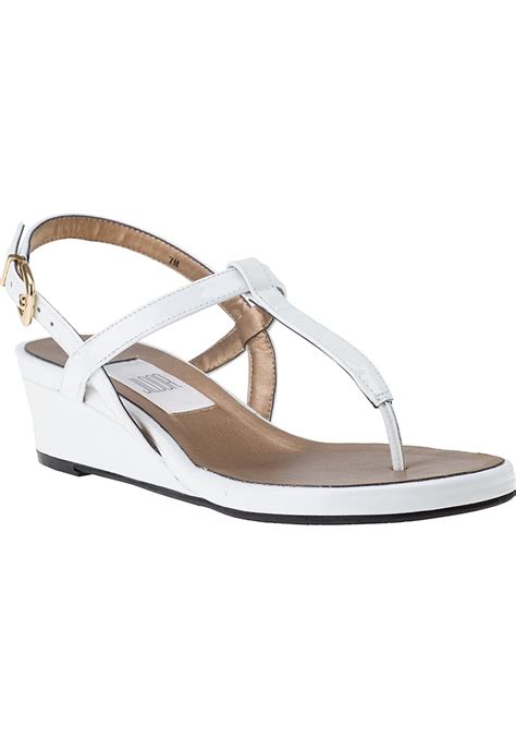 Sandal White vaneli for jildor kaffle wedge sandal white patent in white white patent lyst