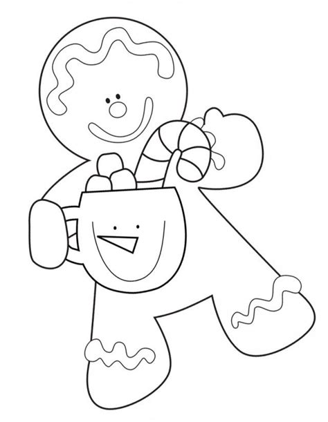 gingerbread people coloring pages coloring home