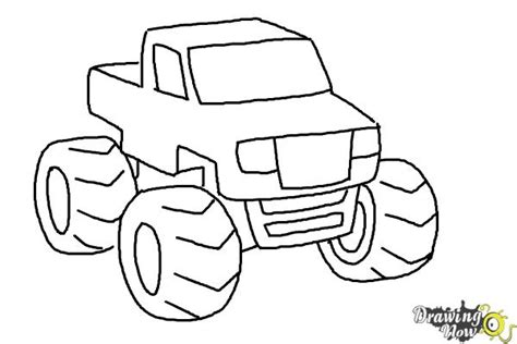 monster trucks drawings how to draw a monster truck step by step drawingnow