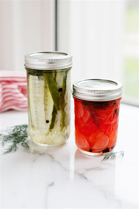 Handmade Pickles - sweet spicy refrigerator pickles a beautiful mess