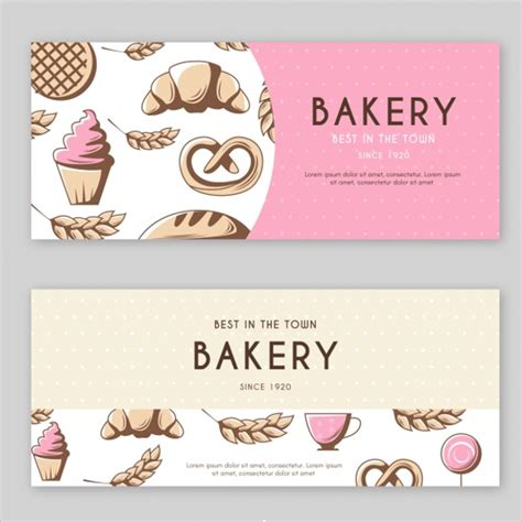 design banner bakery 103 free banner templates psd word photoshop designs