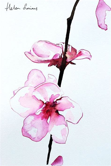 watercolor orchid tattoo watercolour orchid painting by helen simms flower