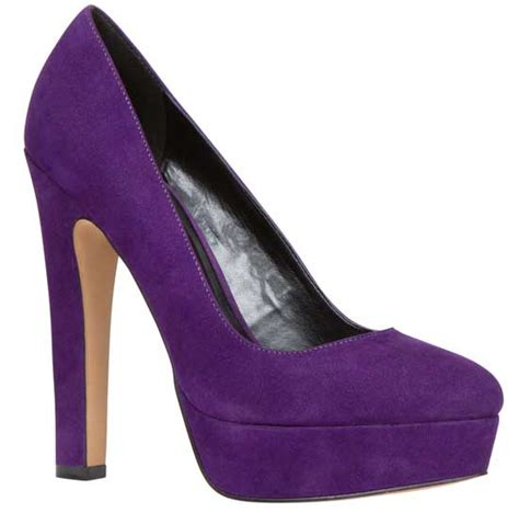 aldo passarello purple suede platform shoes gt shoeperwoman