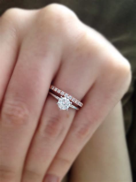 Engagement Ring With Wedding Band by Your Wedding Band With Your Engagement Ring